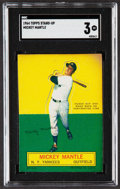 Baseball Cards:Singles (1960-1969), 1964 Topps Stand-Up Mickey Mantle SGC VG 3....
