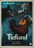 """Movie Posters:Foreign, Lowlands (Allianz Film, 1954). Folded, Very Fine-. West German A1 (24"""" X 34"""") & German Photo (7"""" X 5.25""""). Engel Artwork. Fo... (Total: 2 Items)"""
