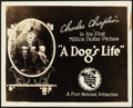 """Movie Posters:Comedy, A Dog's Life (First National, 1918). Very Fine-. Title Lobby Card (8"""" X 10""""). Comedy.. ..."""
