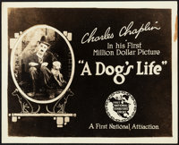 """A Dog's Life (First National, 1918). Very Fine-. Title Lobby Card (8"""" X 10""""). Comedy"""