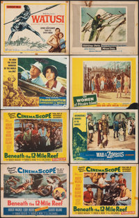 Beneath the 12-Mile Reef & Other Lot (20th Century Fox, 1953). Overall: Fine+. Title Lobby Cards (11), Lobby Cards (...