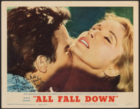 """All Fall Down (MGM, 1962). Very Fine. Autographed Lobby Card (11"""" X 14""""). Drama"""