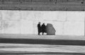 Photographs:Gelatin Silver, N. Jay Jaffee (American, 1921-1999). Untitled (Couple Against a Brick Wall), circa 1950. Gelatin silver, printed later. ...