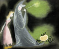 Animation Art:Concept Art, Mary Blair Cinderella Concept/Color Key Original Art (Walt Disney, 1950)....