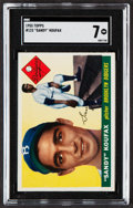 Baseball Cards:Singles (1950-1959), 1955 Topps Sandy Koufax #123 SGC NM 7....