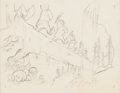 Animation Art:Production Drawing, Snow White and the Seven Dwarfs Concept/Layout Art (Walt Disney, 1937)....