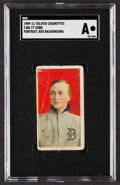 Baseball Cards:Singles (Pre-1930), 1909-11 T206 Tolstoi Ty Cobb (Portrait, Red Background) SGC Authentic....