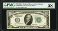 Fr. 2001-F $10 1928A Federal Reserve Note. PMG Choice About Unc 58