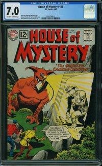 House of Mystery #125 (DC, 1962) CGC FN/VF 7.0 Off-white to white pages