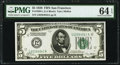 Fr. 1950-L $5 1928 Federal Reserve Note. PMG Choice Uncirculated 64 EPQ