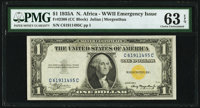 Fr. 2306 $1 1935A North Africa Silver Certificate. PMG Choice Uncirculated 63 EPQ