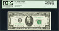 Fr. 2071-B $20 1974 Federal Reserve Note. PCGS Superb Gem New 67PPQ