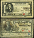 Democratic National Convention Tickets Fine. San Francisco June 28, 1920 Guest Gallery; New York