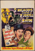 """Movie Posters:Comedy, Abbott and Costello Meet Dr. Jekyll and Mr. Hyde (Universal International, 1953). Folded, Fine/Very Fine. Belgian (14"""" X 20...."""
