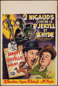Abbott and Costello Meet Dr. Jekyll and Mr. Hyde (Universal International, 1953). Folded, Fine/Very Fine. Belgian (14&qu...