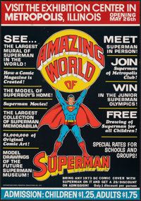 """Amazing World of Superman (National Periodical Publications, 1973). Fine/Very Fine. Advertising Poster (14"""" X 20&qu..."""