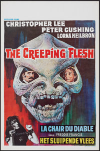 "The Creeping Flesh (Columbia, 1973). Rolled, Very Fine. Belgian (14"" X 21.25""). Horror"