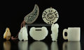 Carvings, A Group of Seven Chinese Jade Carvings. 2-1/8 inches (5.5 cm) (largest, medallion). ... (Total: 7 Items)