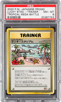 "Memorabilia:Trading Cards, Pokémon Tropical Mega Battle ""Lucky Stadium"" Trainer Promo Trading Card (2000) PSA NM-MT 8...."