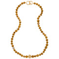Estate Jewelry:Necklaces, Agate, Gold Necklace, Angela Cummings. ...