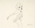Animation Art:Production Drawing, Swing Shift Cinderella Red Hot Animation Drawing (MGM, 1945)....