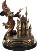"""Animation Art:Maquette, Mickey Mouse """"Mickey - 25 Magical Years"""" Limited Edition Bronze Statue #21/100 (Walt Disney, 1996). ..."""