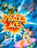 Animation Art:Production Drawing, Space Ace Promotional Poster Original Art (Don Bluth, 1983)....