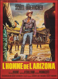 """Movie Posters:Western, The Tall T (Etoile, R-Late 1960s). Folded, Very Fine. Full-Bleed French Grande (45.5"""" X 63"""") Jean Mascii Artwork. Western.. ..."""