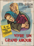 """Movie Posters:Drama, The End of the Affair (Columbia, 1955). Folded, Fine+. French Grande (47"""" X 63"""") Andre Bertrand Artwork. Drama.. ..."""