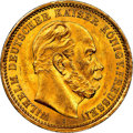 German States:Prussia, German States: Prussia. Wilhelm I gold 20 Mark 1875-A MS63+ NGC,...