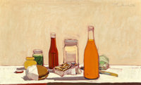 Wayne Thiebaud (b. 1920) Orange Drink, 1961 Oil on canvas 22 x 36 inches (55.9 x 91.4 cm) Sign