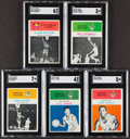 Basketball Cards:Lots, 1961 Fleer Basketball SGC Graded Lot of 5.... (Total: 5 items)