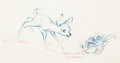 Animation Art:Concept Art, Bambi Bambi and Flower Concept/Layout Drawing (Walt Disney, 1942). ...