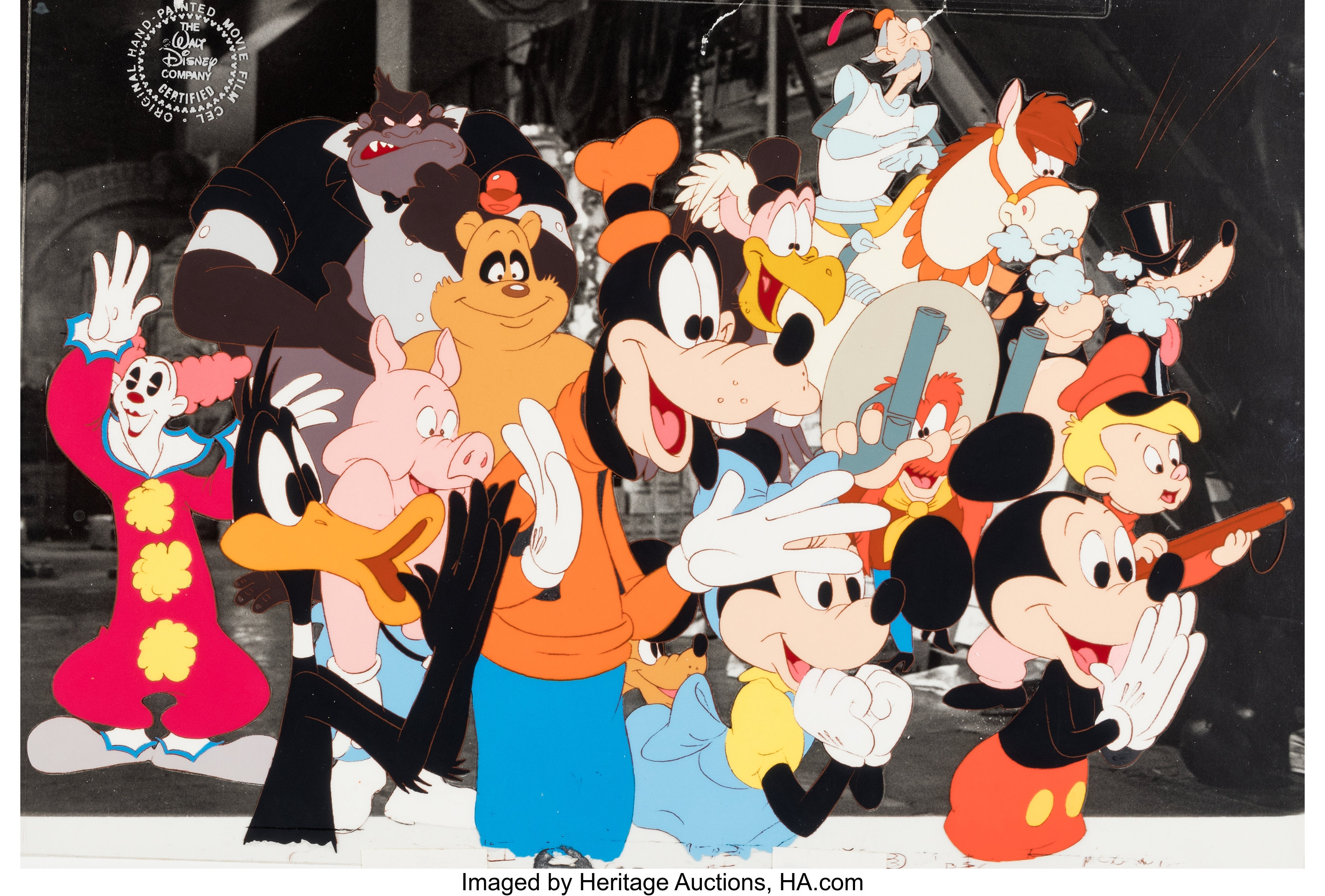 Who Framed Roger Rabbit Multi Character Production Cel Lot 98683 Heritage Auctions