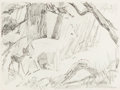 Animation Art:Concept Art, Bambi Concept Drawing Original Art (Walt Disney, 1942)....