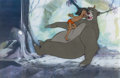 Animation Art:Production Cel, The Jungle Book Baloo and Mowgli Production Cel (Walt Disney, 1967)....