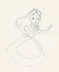 Animation Art:Production Drawing, Alice in Wonderland Animation Drawing (Walt Disney, 1951)....