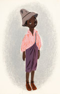 Animation Art:Concept Art, Mary Blair Song of the South Character Concept Painting (Walt Disney, 1946)....
