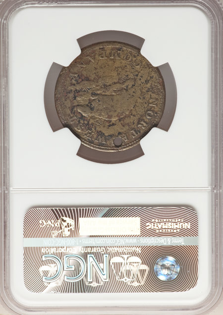 1820 North West Token, Brass, MS 20 NGC