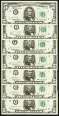 Fr. 1967-B; J; F*; H* $5 1963 Federal Reserve Notes Choice CU; Fr. 1967 G* (2); L* $5 1963 Federal Reserve Note