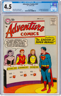 Adventure Comics #247 (DC, 1958) CGC VG+ 4.5 Off-white pages