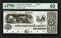 Obsoletes By State:Connecticut, Hartford, CT- Bank of Hartford County $5 18__ as G8 Proof PMG Choice Uncirculated 63.. ...