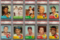 Baseball Cards:Lots, 1963 Topps Baseball (Fourth Series) PSA-Graded Collection (10). ...