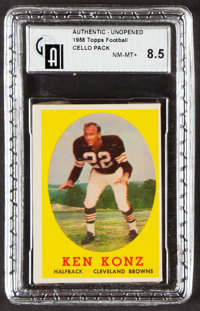 1958 Topps Football Unopened Cello Pack GAI NM-MT+ 8.5