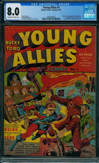 Young Allies Comics #1 (Timely, 1941) CGC VF 8.0 Off-white to white pages