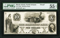 North Scituate, RI- Hamilton Bank $10 18__ G26 Durand 2134 Proof PMG About Uncirculated 55 EPQ