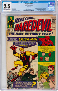 Daredevil #1 (Marvel, 1964) CGC GD+ 2.5 Cream to off-white pages