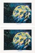 Explorers:Space Exploration, Buzz Aldrin Signed Space-Related Limited Edition Art Prints (Two) by Delmas, #113/450 & 116/450, Originally from His Personal...