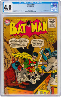 Batman #97 (DC, 1956) CGC VG 4.0 Off-white to white pages
