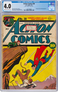 Action Comics #38 (DC, 1941) CGC VG 4.0 Cream to off-white pages